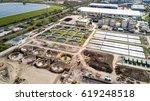 sewage farm  aerial view of a...
