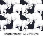 seamless pattern with hand... | Shutterstock .eps vector #619248998