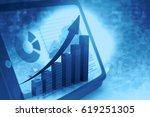 business graph. financial... | Shutterstock . vector #619251305