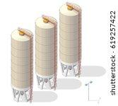 grain silo isometric building... | Shutterstock .eps vector #619257422