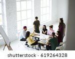young crew of skilled designers ... | Shutterstock . vector #619264328