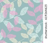 hand drawn seamless pattern... | Shutterstock .eps vector #619264625