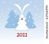 christmas bunny | Shutterstock .eps vector #61926994