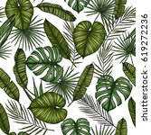 tropical seamless pattern.... | Shutterstock .eps vector #619272236