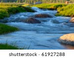 Mountain Stream Summer Evening...