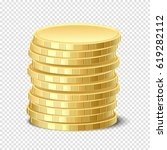 gold coin | Shutterstock .eps vector #619282112