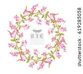 elegant wreath with decorative... | Shutterstock .eps vector #619285058
