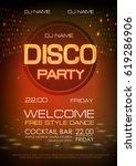 disco ball background. neon... | Shutterstock .eps vector #619286906