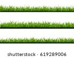 vector realistic isolated green ... | Shutterstock .eps vector #619289006