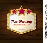 showtime retro signs. retro... | Shutterstock .eps vector #619293026