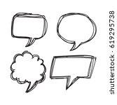 speech bubble hand drawn | Shutterstock .eps vector #619295738