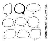 speech bubble hand drawn   Shutterstock .eps vector #619295756
