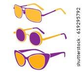 sun glasses | Shutterstock .eps vector #619295792