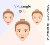 vector image of cosmetic visual ... | Shutterstock .eps vector #619309502