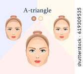 vector image of cosmetic visual ... | Shutterstock .eps vector #619309535