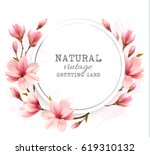 natural vintage greeting card... | Shutterstock .eps vector #619310132