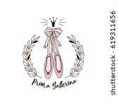 prima ballerina print | Shutterstock .eps vector #619311656
