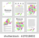 abstract vector layout... | Shutterstock .eps vector #619318832