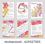 abstract vector layout... | Shutterstock .eps vector #619327505