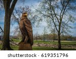 Patriotic Bald Eagle Carved Ou...