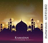 ramadan greetings background ... | Shutterstock .eps vector #619351802