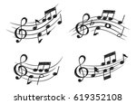 music note design element in... | Shutterstock .eps vector #619352108