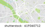urban vector city map of dallas ... | Shutterstock .eps vector #619360712