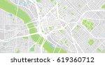 urban vector city map of dallas ... | Shutterstock .eps vector #619360712