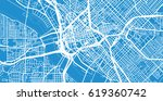 urban vector city map of dallas ... | Shutterstock .eps vector #619360742