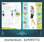 two sided brochure or flyer... | Shutterstock .eps vector #619393772