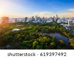 evening period cityscape at... | Shutterstock . vector #619397492