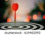 target dart with arrow over... | Shutterstock . vector #619402592