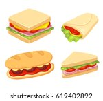 Set Of 4 Sandwiches. Meatball...