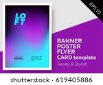 bright vector template design.... | Shutterstock .eps vector #619405886