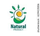 logo natural product | Shutterstock .eps vector #619415006