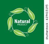 logo natural product | Shutterstock .eps vector #619415195