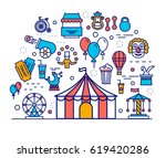 premium quality circus outline... | Shutterstock .eps vector #619420286