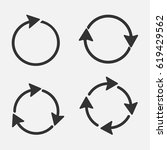 circle arrows set   Shutterstock .eps vector #619429562
