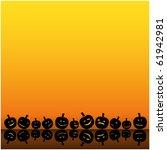 halloween background | Shutterstock .eps vector #61942981