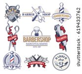 collection badges  logos with... | Shutterstock . vector #619433762