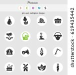 agriculture vector icons for... | Shutterstock .eps vector #619435442