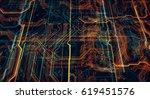 3d illustration. circuit board... | Shutterstock . vector #619451576