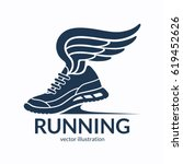 speeding running shoe symbol ... | Shutterstock .eps vector #619452626