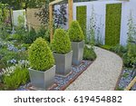 a heather garden showing the... | Shutterstock . vector #619454882