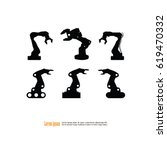 robotic arm.robot icon.vector... | Shutterstock .eps vector #619470332