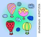 set of balloon. | Shutterstock .eps vector #619471526