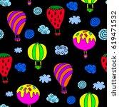 pattern of balloon. | Shutterstock .eps vector #619471532