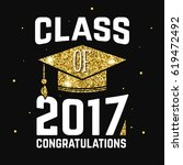 class of 2017 badge. concept... | Shutterstock . vector #619472492