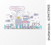 emergency hospital design... | Shutterstock .eps vector #619473905
