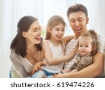 happy father's day  two... | Shutterstock . vector #619474226